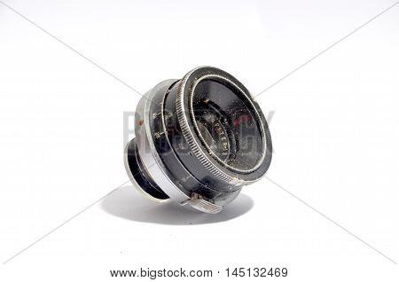 picture of a Vintage camera lens close-up .nostalgia concept poster