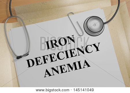 Iron Deficiency Anemia - Medical Concept