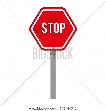 sinal transit stop warning design vector illustration eps 10