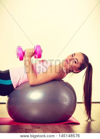Young Active Lady At The Gym.