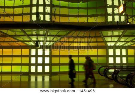 A Corridor Of A Major Internation Airport