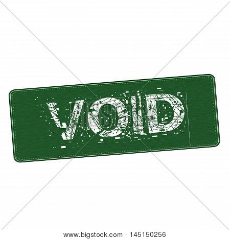 void white wording on Background green wood Board