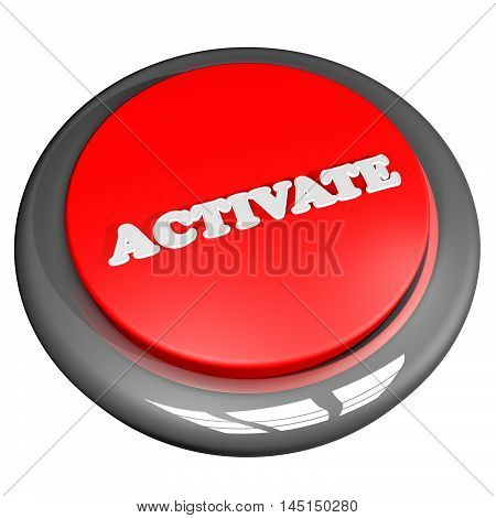 Activate Button Isolated Over White
