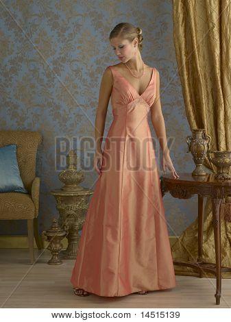 Orange Evening Gown