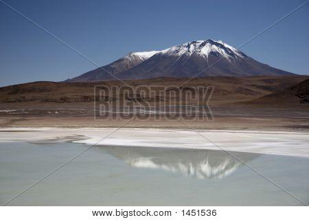 Lake And Mountain In Bolivia
