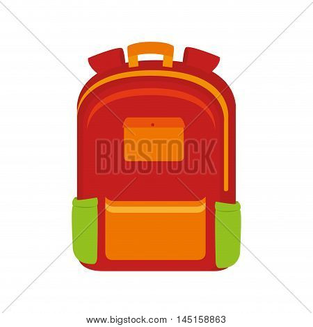 bag school baggage education isolated vector illustration eps 10