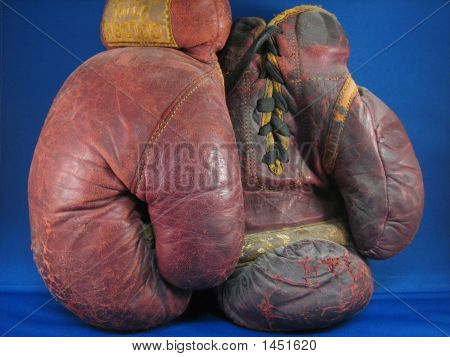 Old Beat Up Boxing Gloves