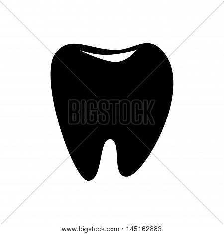 icon tooth odontology isolated vector illustration eps 10