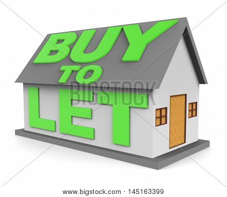 Buy To Let Means Landlord Buying 3D Rendering