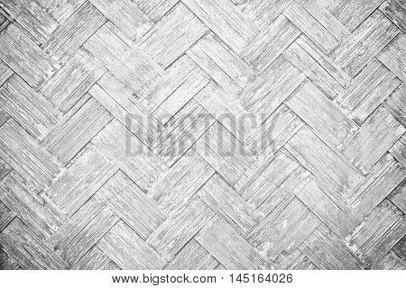 The gray bamboo woven walls for beautiful background.