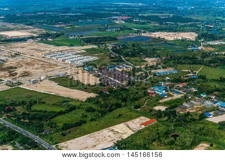 Land Development Industrial Estate Construction  factories and warehouse