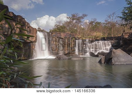 Tad tone waterfall at Chaiyaphum in Thailand