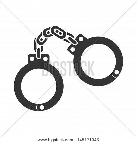 icon handcuffs police safe isolated vector illustration esp 10
