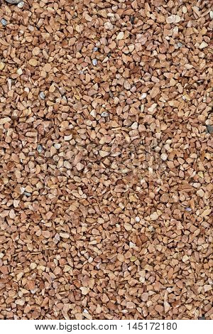 Decorative Small Beige Gravel Garden Pavement