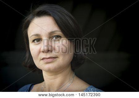Portrait of an adult woman melancholic