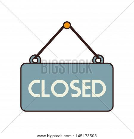 closed sign hang isolated vector illustration eps 10