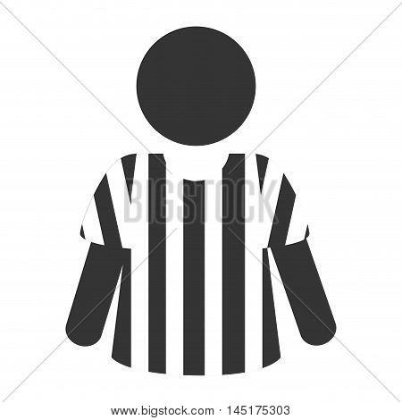 icon referee football american vector illustration eps 10