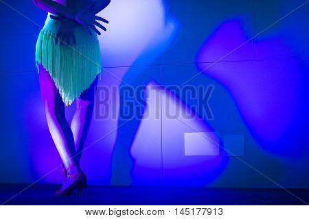 Woman Dancer Dancing In Show