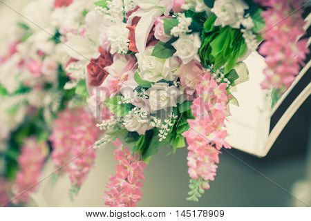 Bunch of wedding bouquet can be use for background