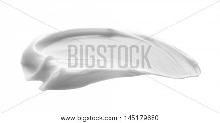 Facial cream sample isolated on white