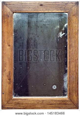 Old Rusty Wooden Mirror Cutout