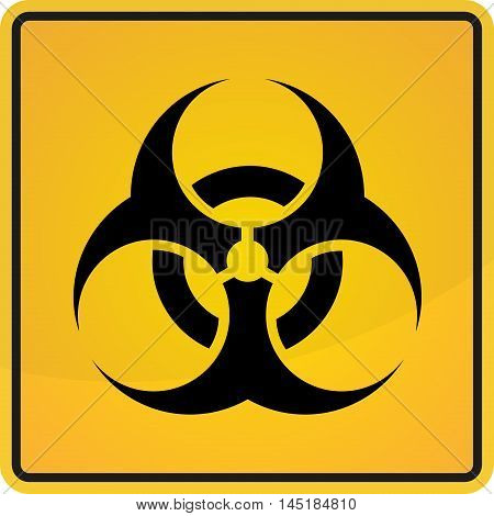 Biohazard Sign Biohazard Sign Vector. in yellow and black colors.