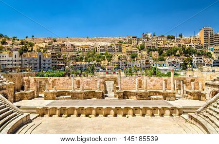 Details of Roman Theater in Amman - Jordan