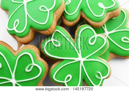 Decorative cookies. Saint Patrics Day concept