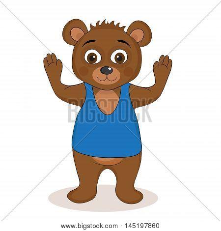 Cute teddy bear mascot teddy bear children's character. Vector illustration