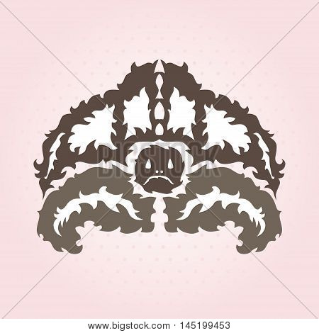 Hand drawn decorative turlte, design element. Marine theme