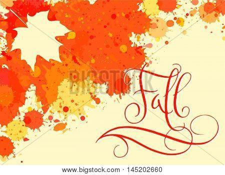 Fall In Watercolor Frame