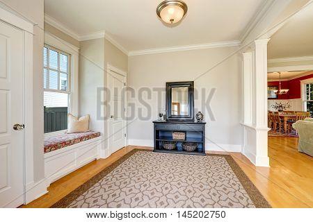 Nicely Decorated Hallway Interior.