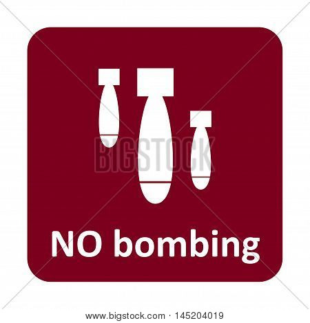 No Bombing Vector Icon For Web And Mobile