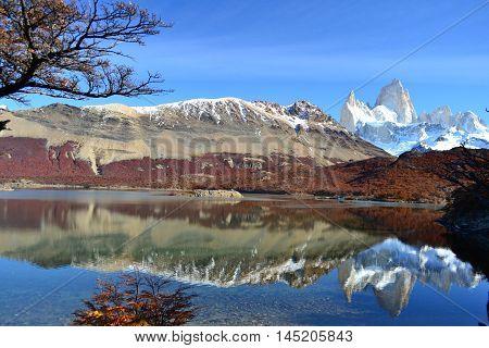 Argentina, Cerro Fitz Roy - Landscape in autumn