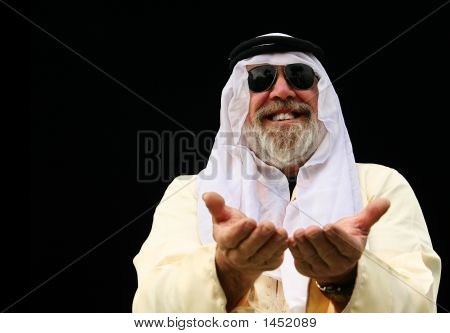 Middle East Man Opening Hand