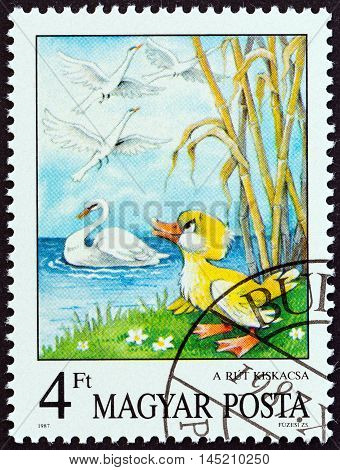 HUNGARY - CIRCA 1987: A stamp printed in Hungary from the