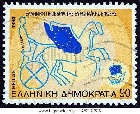 GREECE - CIRCA 1994: A stamp printed in Greece from the