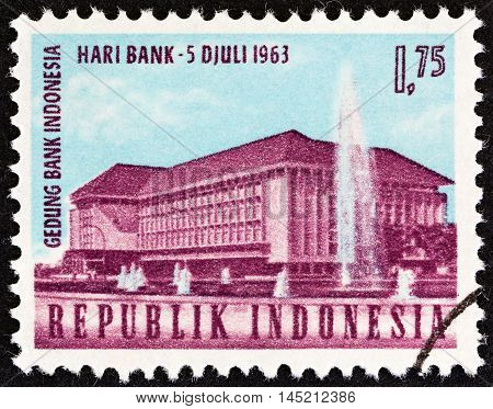 INDONESIA - CIRCA 1963: A stamp printed in Indonesia from the