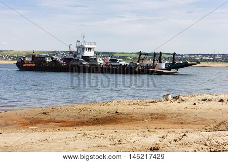 Ferryboat With Cars