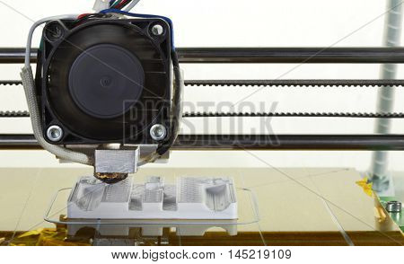 3D Printing Model of Plastic Prototype Replacement Part Cutout