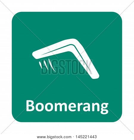 Boomerang Vector Icon For Web And Mobile