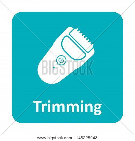 Hair Trimmer Clipper Vector Icon For Web And Mobile
