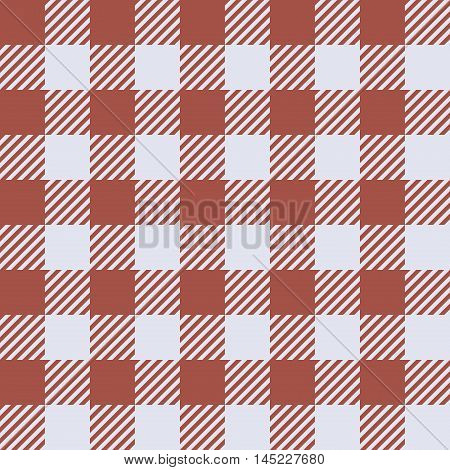 Seamless pattern with trendy stylish cell Gingham Red and white.