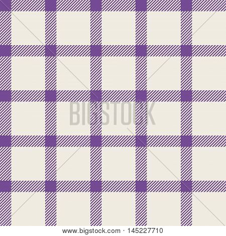 Seamless pattern with trendy stylish cell Gingham. The pale pink purple and white