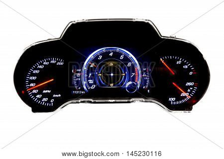 Dashboard And Digital Display - Mileage, Fuel Consumption, Speedometer Mph