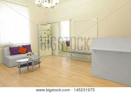 Reception room in beauty salon
