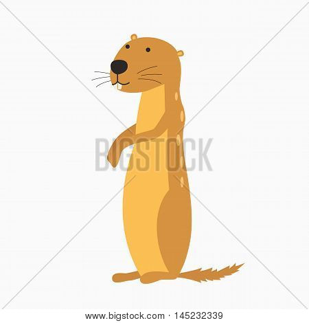Cartoon Vector Illustration of Funny Gopher Animal