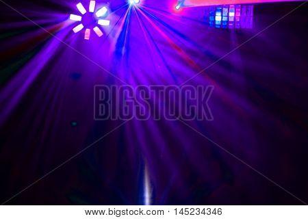 Disco .beautiful  Laser show in a nightclub
