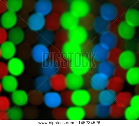 colorful Bokeh Background  of green, blue and red colors