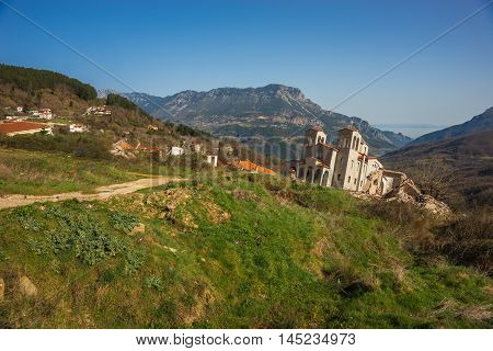 Sliding Village Ropoto After A Landslide In Greece